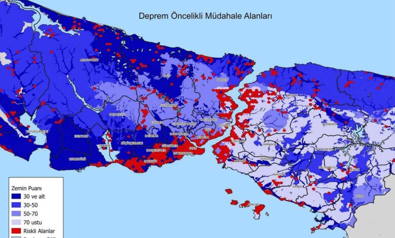İstanbul Deprem Haritası